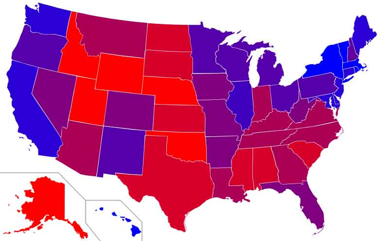 Most racist states in america map