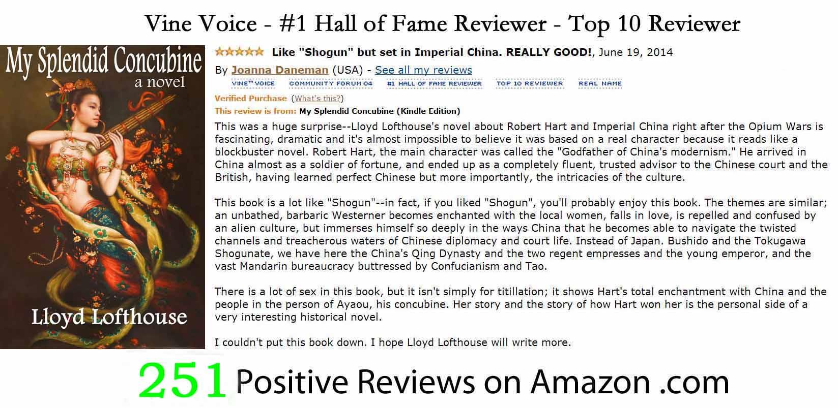 251 Hall of Fame Positive Reviews on Amazon.jpg