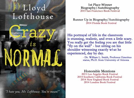Crazy is Normal promotional image with blurbs